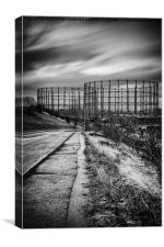 Gasometers in Glasgow, Canvas Print