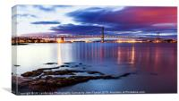 Forth Road Bridge at Dusk, Canvas Print