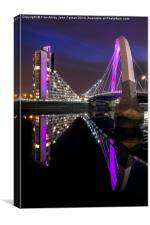 Clyde Arc Glasgow, Canvas Print
