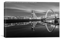 Glasgow by night, Canvas Print