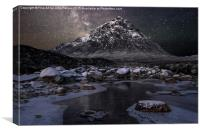 Buachaille and the Milkyway, Canvas Print