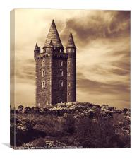 Scrabo Tower, Newtownards, County Down, Canvas Print
