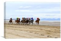 Horse Racing on Laytown Beach, Canvas Print