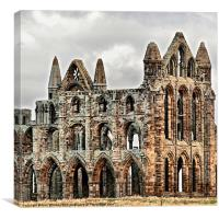 Close up of Whitby Abbey, Canvas Print