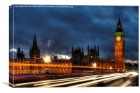 Time Flies in London, Canvas Print
