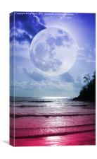 Crimson Moonlight, Canvas Print
