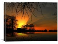 Sunset Reflection, Canvas Print