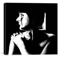 Woman in White, Canvas Print