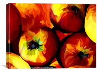 Apple Abstract, Canvas Print