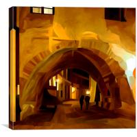 Old Town Arch, Canvas Print