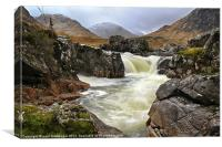 Glen Etive Waterfall, Canvas Print