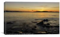 Sunset over to the Isles., Canvas Print
