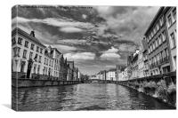 bruges canal, Canvas Print