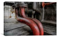red pipes, Canvas Print
