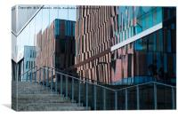 office buildings reflections, Canvas Print