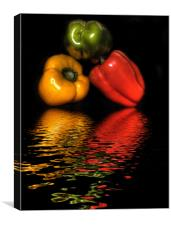 Peppers, Peppers, Peppers, Canvas Print