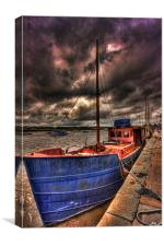 Old Boat in a storm, Canvas Print