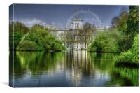 St James Park and London Eye, Canvas Print