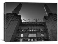 Standing in the shadow of Battersea Power Station, Canvas Print