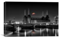 Battersea Power station and pig, Canvas Print