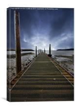 the jetty at rhos-on-sea, Canvas Print