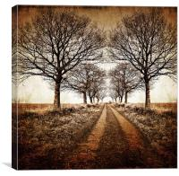 stark winter avenue, Canvas Print