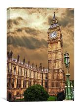 house of commons clock tower, Canvas Print
