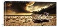 enhanced colour at dungeness, Canvas Print