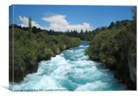 Huka Falls Waikato River NZ, Canvas Print