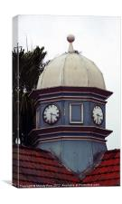 Domed clock tower, Canvas Print