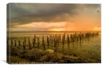 Broken wooden pier, Canvas Print