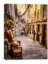 Back street in Lisbon, Canvas Print