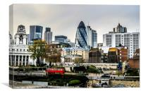 London view from Tower of London, Canvas Print