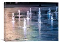 Water fountains, Canvas Print