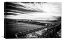 Tiree Harbour in B & W, Canvas Print