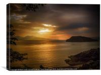 Sunset at Lismore Island, Canvas Print