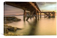 Down Below the Jetty, Canvas Print
