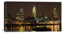 London by night Pano version, Canvas Print