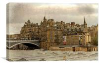 Across the Station Rooftops, Canvas Print