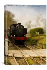 KESR Steam train in colour , Canvas Print