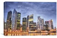 Singapore waterfront, Canvas Print