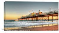 Paigntn's Sun Kissed Pier, Canvas Print