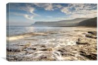 Robin Hoods Bay Breakers, Canvas Print