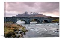 Under the Arches at Sligachan River, Canvas Print