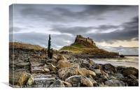 Path to Lindisfarne Castle, Canvas Print