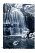 Ice Rocks at Scaleber Force Falls, Canvas Print