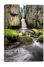 Catrigg Force Falls, Canvas Print