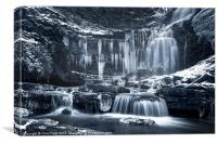 Winter Wonders at Scaleber Force (BW), Canvas Print