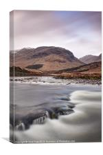 Flowing River Etive, Canvas Print