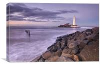 St Marys Lighthouse, Canvas Print